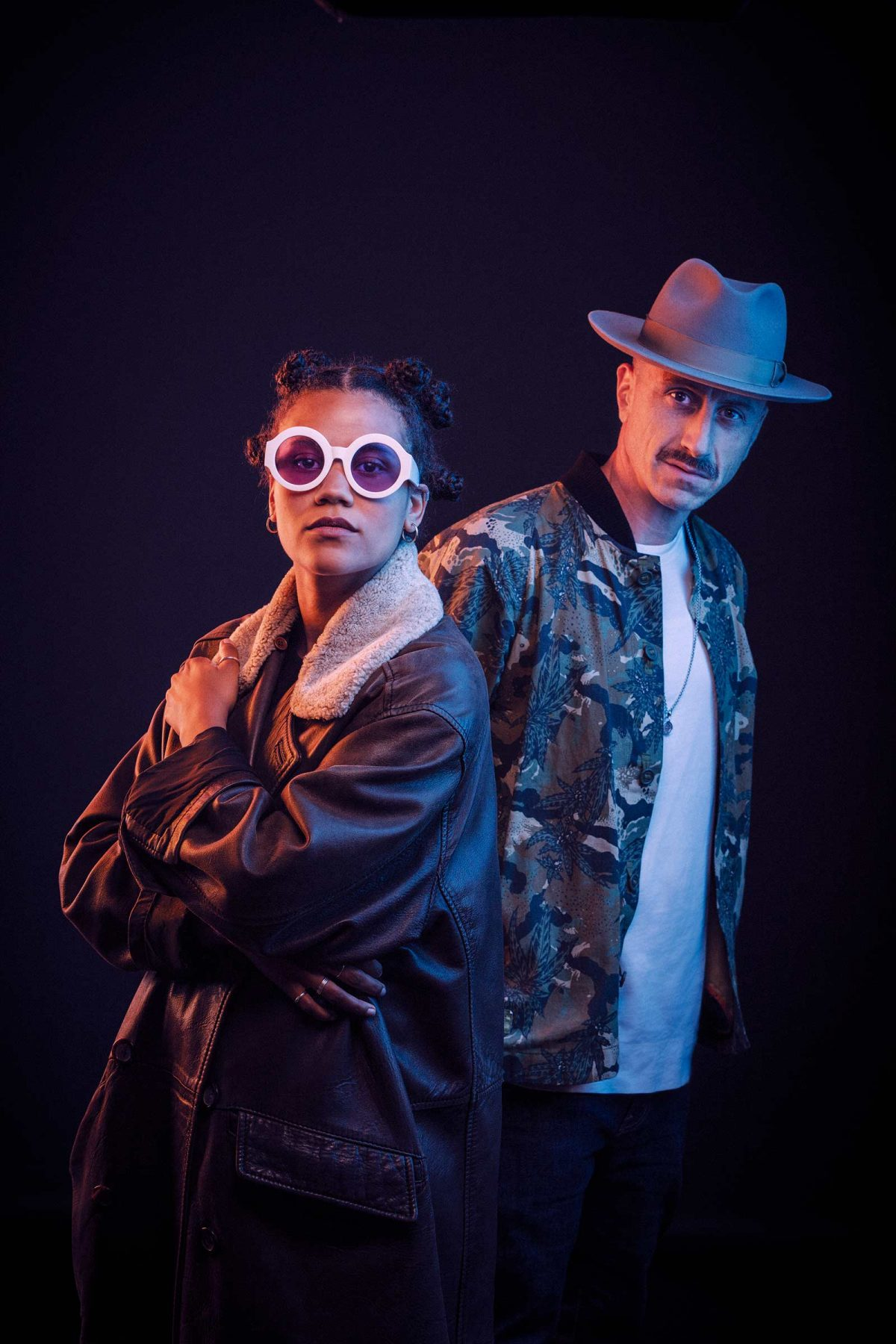 Portrait DJ Sepalot und Ami Warning. Derek Henthorn - Fotograf München